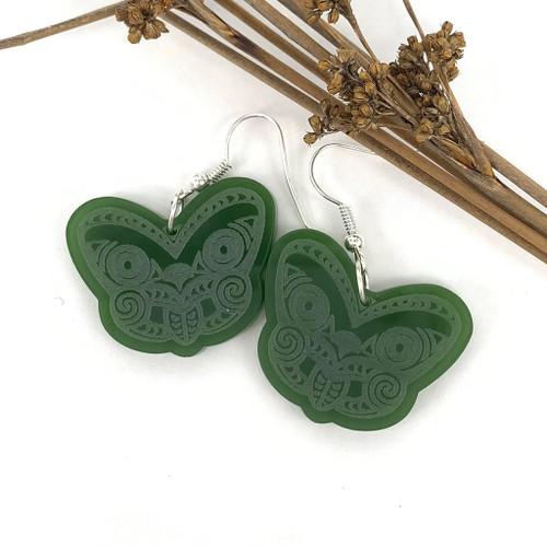 Pukana resin earrings from SoNZ.
