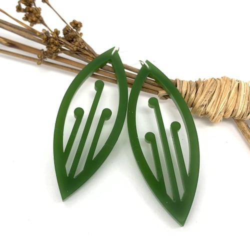 Ponga resin earrings from SoNZ.