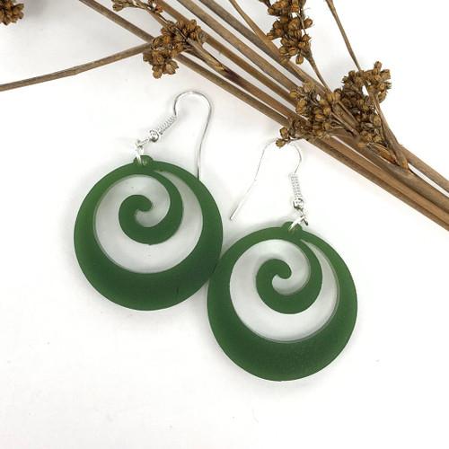 Koru resin earrings from SoNZ.