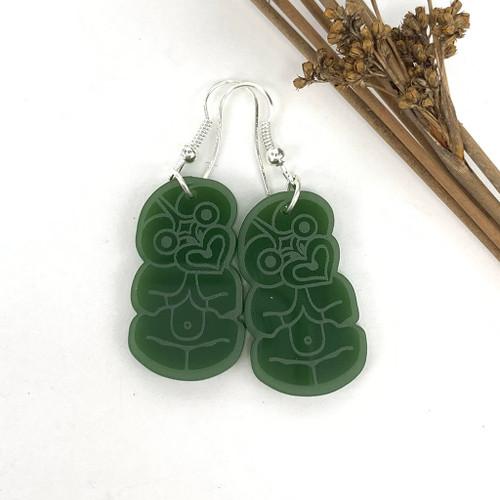 Tiki resin earrings from SoNZ.