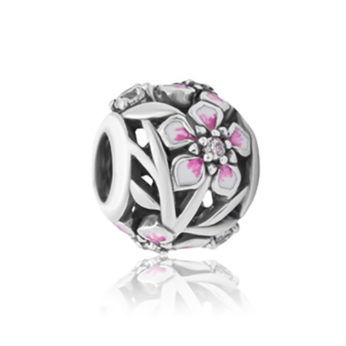 Manuka  sterling silver, enamel and cubic zirconia charm from Evolve New Zealand.