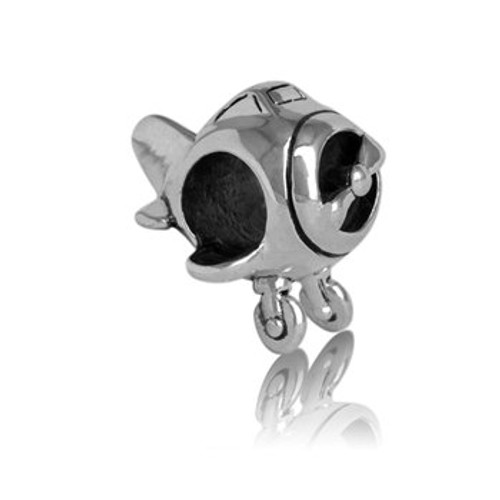 Sterling silver aeroplane charm from Evolve New Zealand.