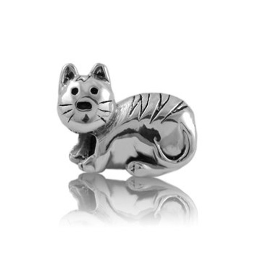 Sterling silver kitty cat charm from Evolve New Zealand.