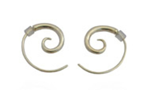 silver spiral earrings - small by NZ jewellery designer Nick Feint, Stone Arrow