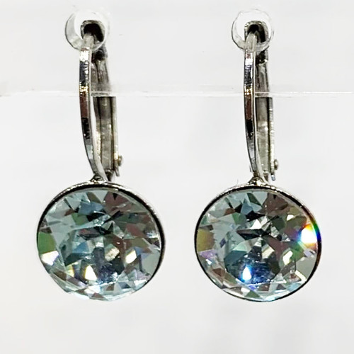 Light azore coloured silver swarovski crystal loops from Isa Dambeck.