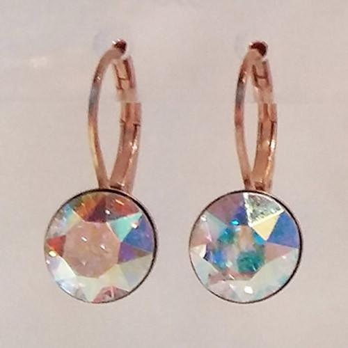 Crystal AB coloured rose gold swarovski crystal loops from Isa Dambeck.