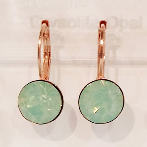 Crysolite opal coloured rose gold swarovski crystal loops from Isa Dambeck.