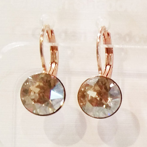 Golden shadow coloured rose gold swarovski crystal loops from Isa Dambeck.