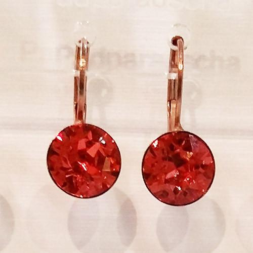Padparadscha coloured rose gold swarovski crystal loops from Isa Dambeck.