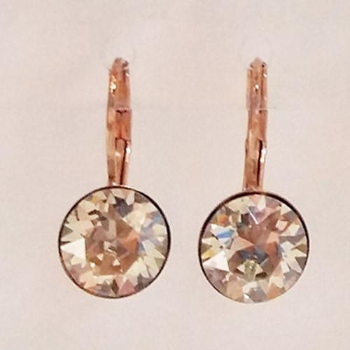 Silver shade coloured rose gold swarovski crystal loops from Isa Dambeck.