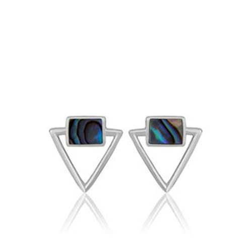 Sterling silver and paua ocean paua stud earrings from Evolve New Zealand