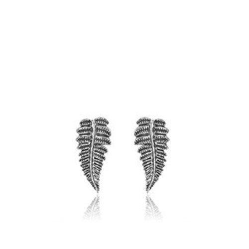Forest Fern sterling silver stud earrings from Evolve New Zealand