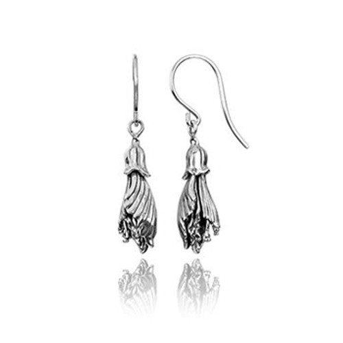 Kowhai sterling silver drop earrings from Evolve New Zealand