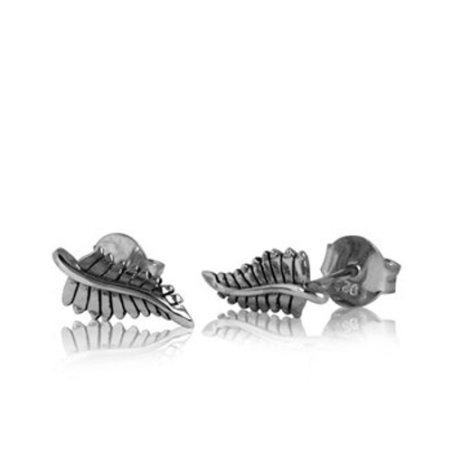 Forever Fern Studs in sterling silver by Evolve New Zealand