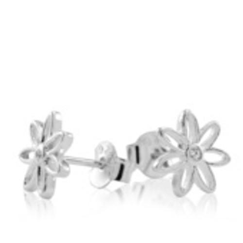 sterling silver daisy stud earrings from Evolve New Zealand