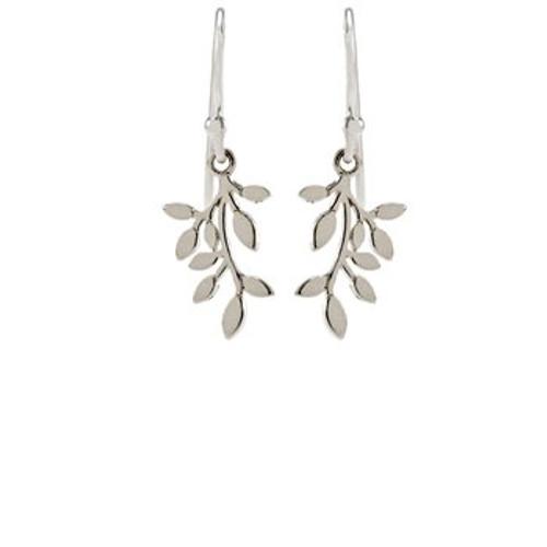 sterling silver wishing tree drop earrings from Evolve New Zealand
