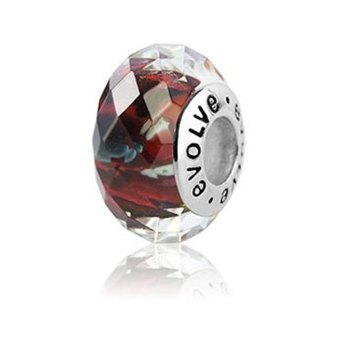 Christchurch faceted murano glass charm from Evolve New Zealand.