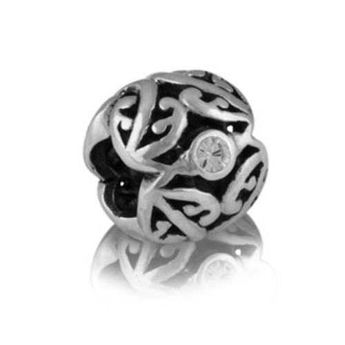 Sterling silver and cubic zirconia family tree charm from Evolve New Zealand.
