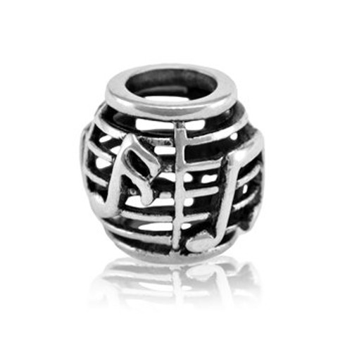 Sterling silver NZ music charm from Evolve New Zealand.