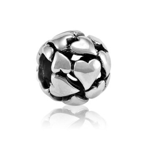 Sterling silver precious hearts charm from Evolve New Zealand.