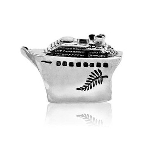 Sterling silver cruising NZ charm from Evolve New Zealand.