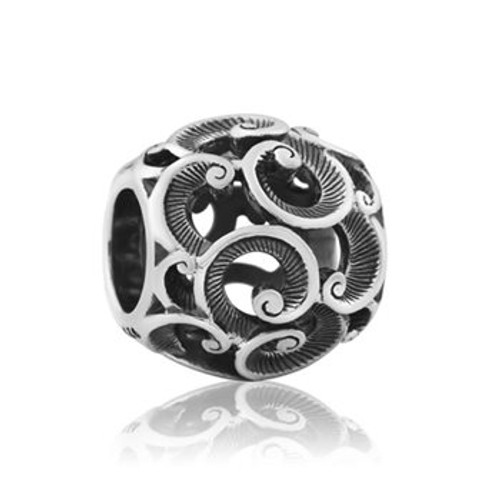 Sterling silver treasured koru charm from Evolve New Zealand.