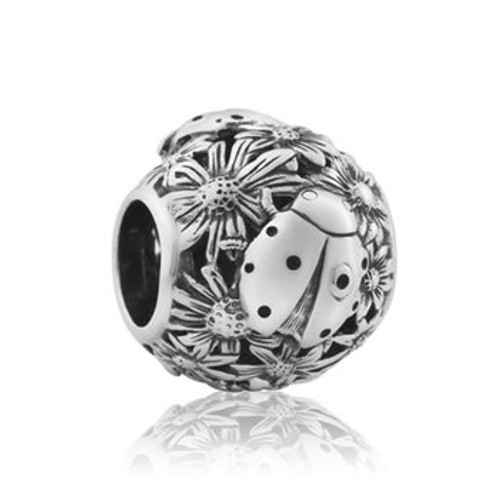 Sterling silver ladybird luck charm from Evolve New Zealand.