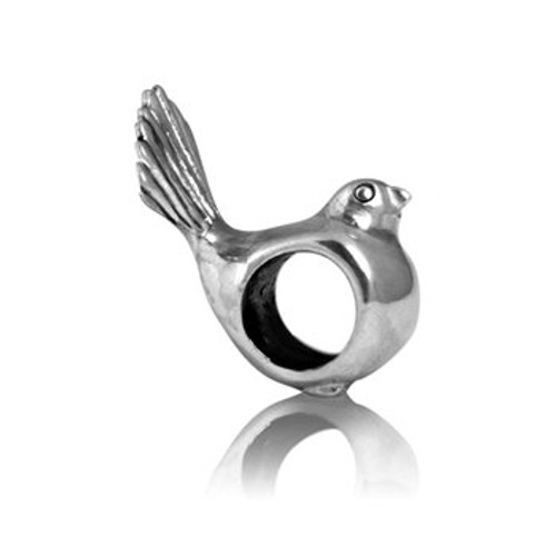 Sterling silver fantail charm from Evolve New Zealand.
