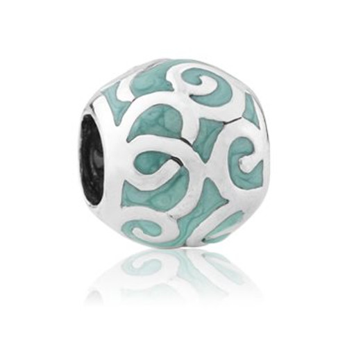 Aotearoa's ocean sterling silver and enamel charm from Evolve New Zealand.