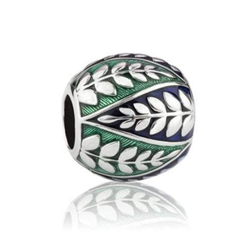 Coastal fern, pride, sterling silver and enamel charm from Evolve New Zealand.