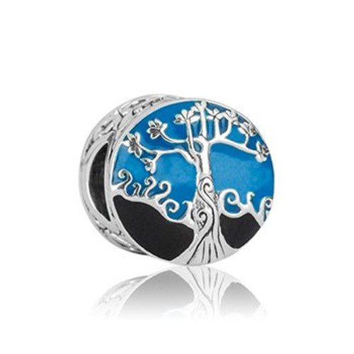 Mighty kauri sterling silver and enamel charm from Evolve New Zealand.