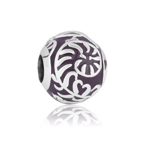 Baby fern sterling silver and enamel charm from Evolve New Zealand.