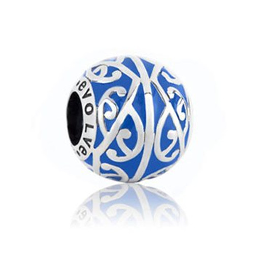 Ocean tide, new beginnings, sterling silver and enamel charm from Evolve New Zealand.
