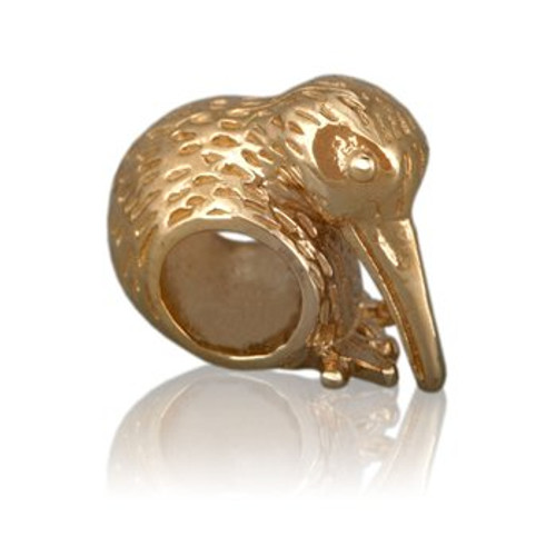 Baby kiwi 9ct gold charm from Evolve New Zealand.