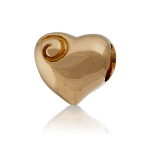 Aotearoa's heart  9ct gold charms from Evolve New Zealand.