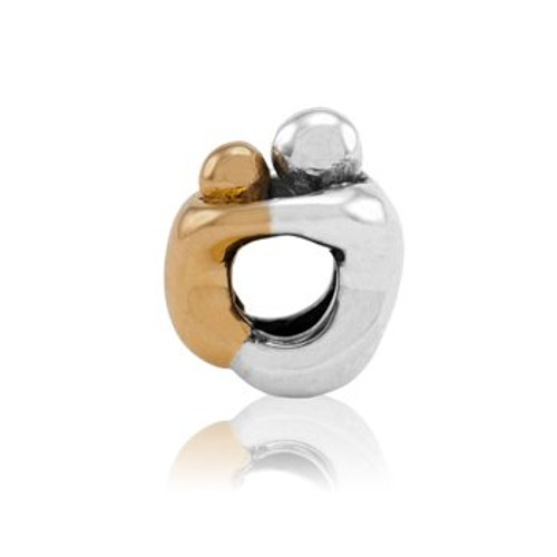 Cherished child sterling silver and 9ct gold charm from Evolve New Zealand.
