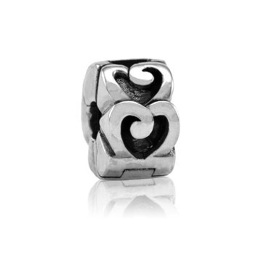 Sterling silver Love stopper from Evolve New Zealand.