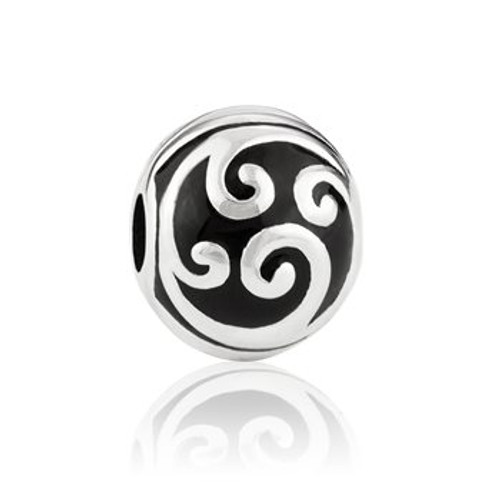 Sterling silver fern frond clip/end stopper from Evolve New Zealand.
