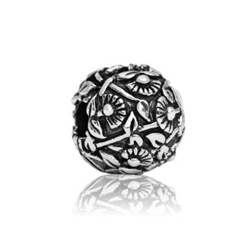 Sterling silver pohutukawa end stopper/clip from Evolve New Zealand.