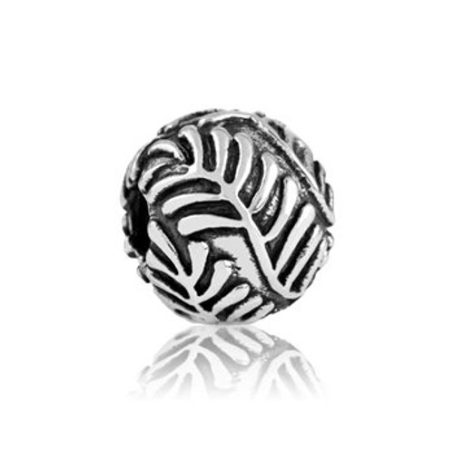 Sterling silver precious fern end stopper/clip from Evolve New Zealand.