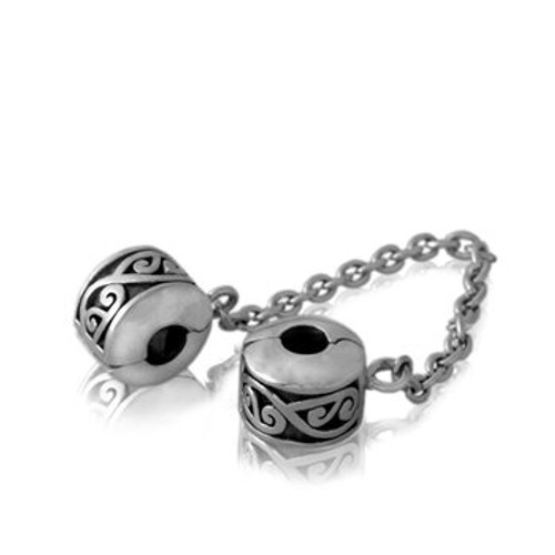 Sterling silver Continuum safety chain from Evolve New Zealand.