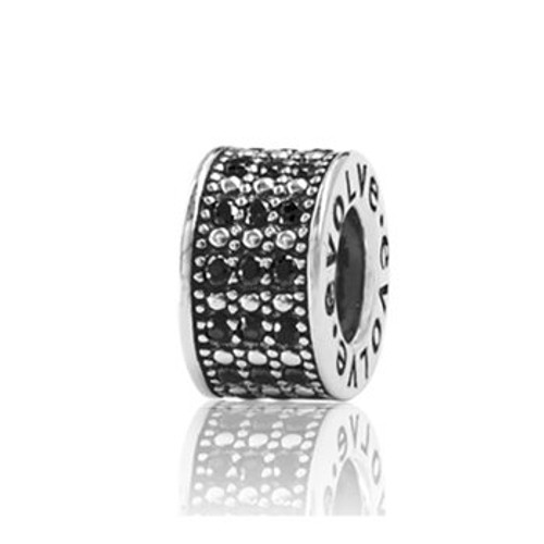 Sterling silver and gemstone starry night spacer from Evolve New Zealand.