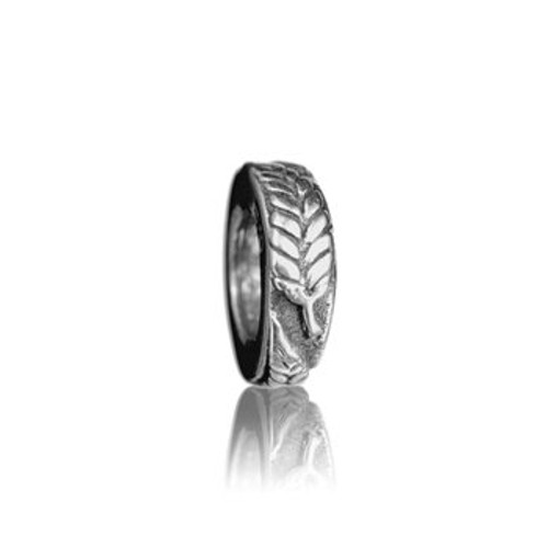 Sterling silver silver fern spacer from Evolve New Zealand.