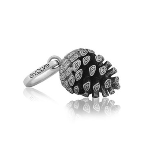 Sterling silver pinecone pendant charm from Evolve New Zealand.