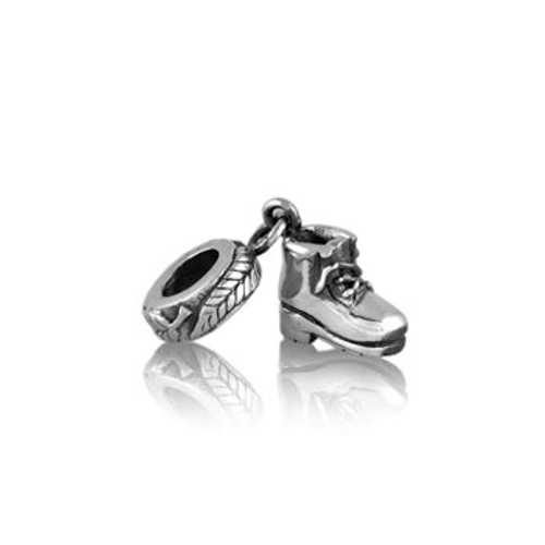 Sterling silver tramping boot pendant charm from Evolve New Zealand.