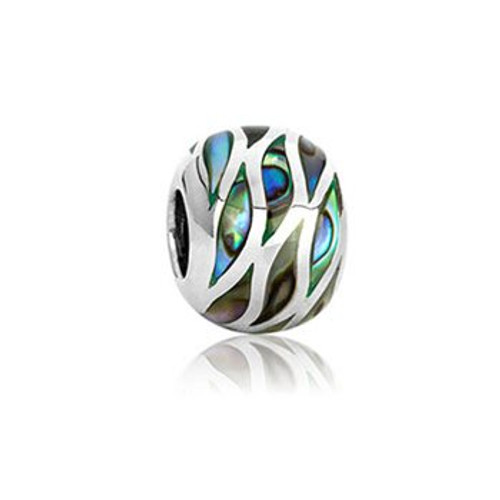 NZ paua and sterling silver ocean paua charm from Evolve New Zealand.
