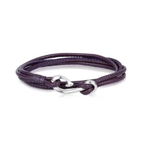 Mulberry leather Safe Travel wrap charm bracelet from Evolve New Zealand.