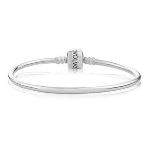 Sterling silver Classic bangle charm bracelet from Evolve New Zealand.