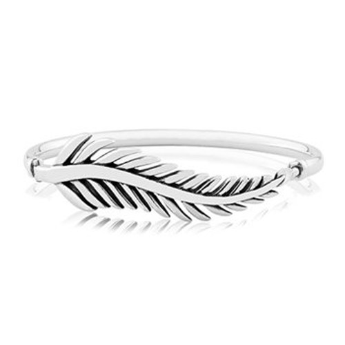 Sterling silver statement forever fern bangle from Evolve New Zealand.
