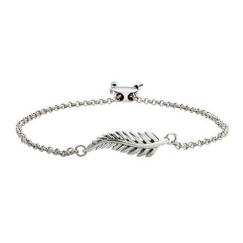 Forever fern sterling silver bracelet from Evolve New Zealand.